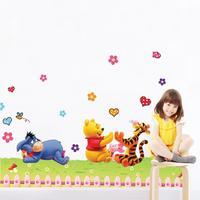 992 removes cute cartoon children kindergarten Pooh wall stickers Teddy bear cartoon series wholesale