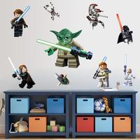 1428 trade new LEGO robot logo iron man kids room bedroom wall stickers custom wholesale,