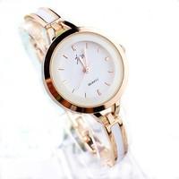Casual lady's slim bracelet wrist watch,analog timer qurat watch J01