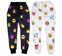 New men women emoji joggers print pants funny cartoon sweatpants long  trousers sportswear emoji clothes vestidos femininos