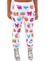 New women emoji joggers print pants funny cartoon joggers vestidos femininos roupas femeninas esporte calsas cheap clothes china