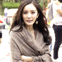 WJ022--Fashion stars style women winter scarf  Plaid big size cashmere Scarves free shipping