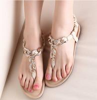 20 New 2014 Women Sandals Diamond Flip-Flop Chain Sandal Ladies Bling Rhinestone Flat Heel Shoe Fashion Buckle Peep Toe Shoes
