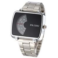 Man's Fashion Dress Paidu Timetable Watch Alloy Brand Round Quartz Watch