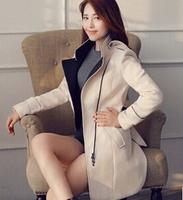 2015 winter new women's hot warm Long cloth trench slim  woolen coat