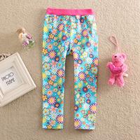 Wholesale 100% Cotton Girls Flower Leggings Baby Kids Winter Pants Fashion Legging for girl