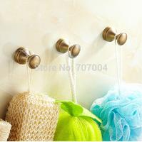 Free Shipping 3x Wall Mounted Brass Towel Hooks Bathroom Bathrobe Hook