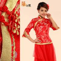 Spring 2014 bride toast suit red Chinese dress fashion small Impatiens wedding cheongsam wedding retro long