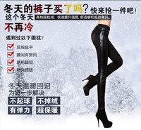 Women leggings Plus size Winter/Spring PU leather leggings patchwork fitness Thick Fleece Slim casual women pencil pants Ae64