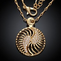 KZCN008-AB // Wholesale fashion beautiful Necklace , hot sale Factory Price Romantic jewelry Chain gold plated Necklace