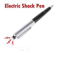Hot sales!!! Electric Shock Pen Gag Funny Ballpoint Working Gift Prank Joke Shocker free shipping