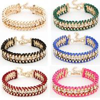 European and American fashion atmospheric metal preparation flash  bracelet temperament
