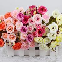 1PCS Bouquet Artificial Flowers Wedding Bridal Flower Home Decoration Decorative Flowers & Wreaths Cheap-fine 5 Colors U Pick