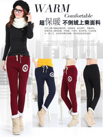 2015 Winter and Spring new women pants Plus size Thick with Fleece women sport pants Casual pants for winter L-5XL Ae65