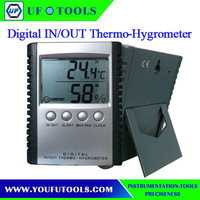 ETH-529 Digital LCD InDoor OutDoor C/F Thermometer Hygrometer Alarm Setting