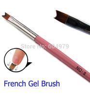 Nail French Nail Brush Professional Pen New French Gel Polish Brush 2pcs 18.5cm length wood handle