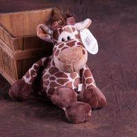 25cm jungle giraffe plush toy, one lot / 4 pieces toys , birthday gift b9996