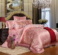 French lace 100% cotton four piece set modal jacquard satin tencel fashion four piece set