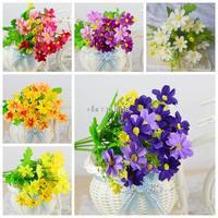 1x Bouquet Artificial Flowers Orchid Chrysanthemum Daisy Home Decoration Cheap-fine