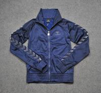 Women flock printing logo bumblebee hummel sports sweatshirt jacket outerwear velvet