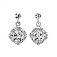 Fashion Design Cubic zirconia Women Dangle Jewelry Earring Cheap Wholesale Free Drop Shipping hot sale