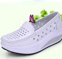 Summer 2014 womens shoe genuine leather breathable shoes swing female shoes platform Pumps nurse work shoes breathable  Q266
