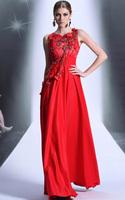 CJ0192 New Style In Stock Vestido De Fiesta 2015 Elegant Long Formal Dresses Beads Applique Floor Length Women Dress