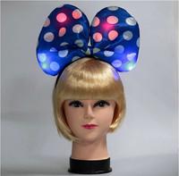 15pcs Christmas Halloween Party Supplies Decoration Hair accessory Flash Head Bow Tie Headband Led Headwear for Kids Girl, Women