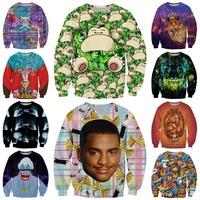Smith Head/Galaxy Crown Mouse/Tiger/Cartoon Printed Hoodies Woman 2015 Autumn Brand Design Tops High Quality Sweatshirt Hot Sale
