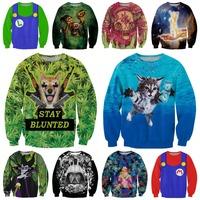 Gun Mouse/Sea Cat/forest monsters/Skull/Galaxy Printed Hoodies Brand Design Women Harajuku Tops Fashion Hot Sale 3D Sweatshirt