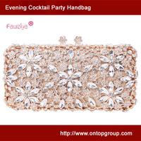 Kiss lock diamond baguette party clutch bag