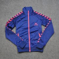 Women 2 bumblebee hummel vintage sports sweatshirt casual jacket velvet