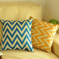 Brief blue stripe vintage fluid home pillow office cushion kaozhen sofa cushion