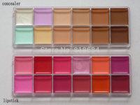 2pcs/lot NEW NAKE MAKEUP GLOSS 12 Color LIP GLOSS PALETTE +12 color concealer !!!Wholesale - Factory Direct!