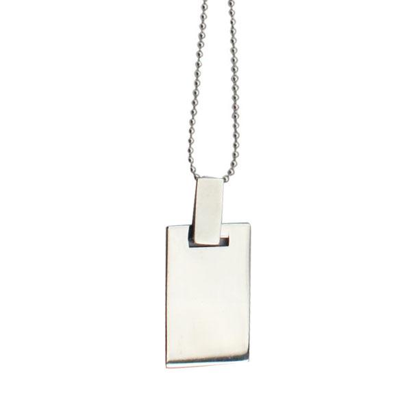 2015 New design fashion rectangular pendant necklace men jewellery Jewelry accesorries(China (Mainland))