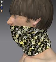 Custom skull design outdoor sports magic tube bandanas, High qualtiy material and breathable