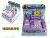 12 sets Baby boy girl Cash Register toy,kids Frozen Elsa Anna Pretend Play Furniture Toys,children Educational Interactive toys
