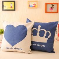 Brief love heart fluid kaozhen office pillow sofa cushion core