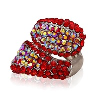 Hot Sale Acrylic Women Rings Women Fashion Adjustable Stainless Steel Engagement Classic Bijoux Nail Ring