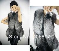 NEW 2014 Europe and the United States women short design simulation fur vest coat plus-size