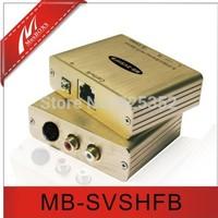 Free shipping,VGA extender,Passive S-Video/Stereo Hi-Fi  Audio Balun,AV extender,Built-in TVS  for surge protection