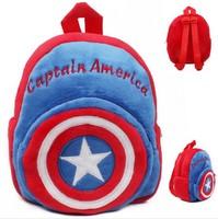 High Quality Children Plush Cartoon Bags Kids Backpack Children School Bags  Captain America Bags For Kindergarten 0-3 Years