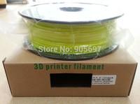 PLA Luminous Yellow 3D Printer Filament 1KG/Roll Diameter 1.75mm 3.0mm for Makerbot/Ultimaker/Reprap/UP 3D Printers