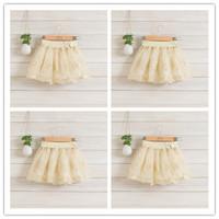 Hu Sunshine wholesale 2014 summer fashion Girls lace Half-length Boutique Golden skirt factory direct WW11272588H