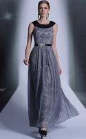 CJ0191 New Style In Stock Vestido De Fiesta 2015 Under $100 Elegant Long Formal Dresses Scoop Pleat Floor Length Dress For Prom