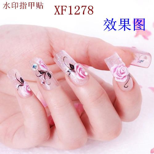 XF Manicure sticker beard watermark nail sticker paibi flower nail stickers manufacturers XF1278(China (Mainland))