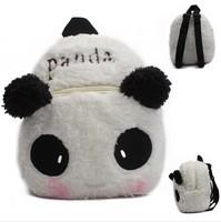 High Quality Children Plush Cartoon Bags Kids Backpack Children School Bags  Cartoon Panda Bags For Kindergarten 1-3 Years