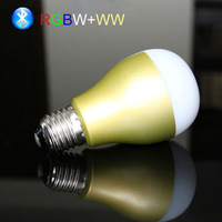 Funny group control smart rgbw+ww e26 e27 bluetooth led bulb light color changing via play game speaking music by your phone