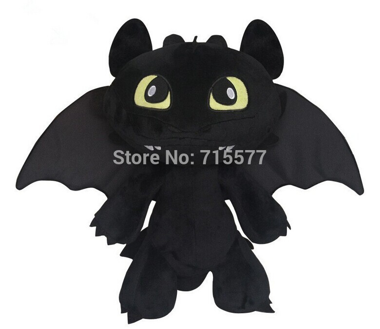 1 piece 35cm 2014 Hot Toys How To Train Your Dragon 2 Plush Toy Toothless Dragon Stuffed Animal Dolls Movie Toys For Children(China (Mainland))