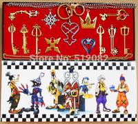 13PCS/lot  Kingdom Hearts II KEY BLADE Sora Necklace Keyblade Pendant Set New  Gift  Free Shipping Silver Golden Color